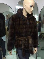 giacca di visone + cappuccio / mink fur jacket + cap