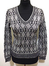 CREATONS EVEN PARIS VINTAGE '70 Maglia Donna Lurex Woman Sweater Sz.XS - 38