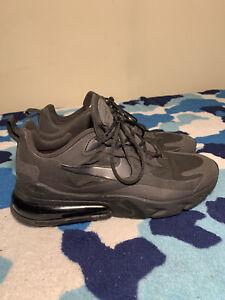 "Men's Nike Air Max 270 React ""Triple Black"" Size 8.5 Running Shoe"