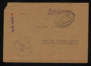 Feldpost II. WK - Brief 1943 mit Inhalt FP-Nr. 45277 A Gefreiter - Wien Bahnpost