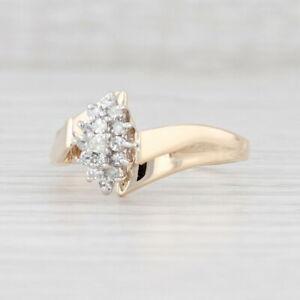 Diamant Haufen Verlobung Ring 14k Gelbgold Umgehen Kathedrale Band Größe 10.5