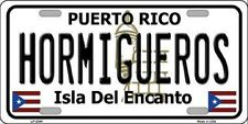 HORMIGUEROS PUERTO RICO NOVELTY STATE BACKGROUND METAL LICENSE PLATE
