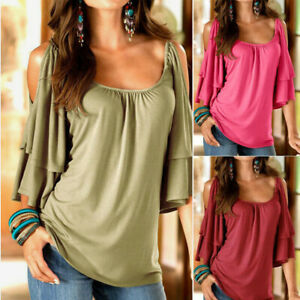 Sunyastor-Top for Women,Womens Summer Boho Embroidered V Neck Short Sleeve Casual T-Shirt Tops Loose Casual Blouses