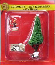 Asterix /Das gallische Dorf/ Automatix + Sein Werkzeug + Baum /Hachette/Neu