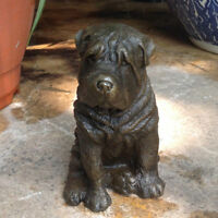 China  Art Deco handmade Sculpture Shar-pei Dog Bronze Copper Statue