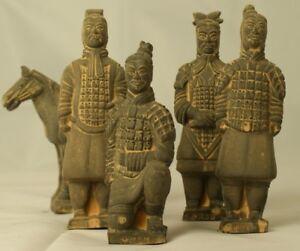 Set of Terracotta Warrior Statues - 5 Figurines Stocking Filler Gift Historical