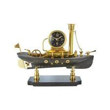 Steamboat Table Clock - Nautical Steampunk Desk Clock - Solid Brass - Maritime