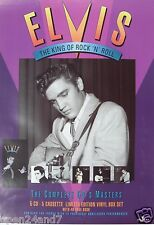 """ELVIS PRESLEY """"COMPLETE 50s MASTERS"""" AUSTRALIAN PROMO POSTER-King Playing Guitar"""