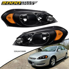 Fit For 06 16 Chevy Impala 2006 2007 Monte Carlo Headlights Black Leftright Us Fits 2006 Impala