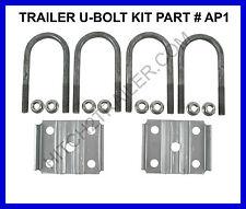 "Trailer U-Bolt kit Round 2-3/8"" x 5-1/2"" x 1/2"" w Axle Plates & Nuts 3500 lb AP1"