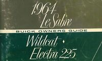 OEM Maintenance Owner's Manual Bound Buick Electra, Lesabre, Wildcat 1964