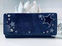 NWT Kate Spade Alli fold slim wallet MADISON AVE Twilight Stars leather & Suede