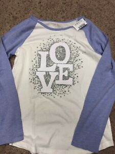 NWT TCP SPARKLY LOVE Baseball Top, 10/12