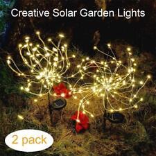 2 pcs Firework Starburst 105 LED Solar Light for Holiday Yard Christmas Decor