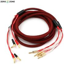 One pair high quality ZERO-ZONE HIFI SP01 Speaker cable 2.5M / pure hand made
