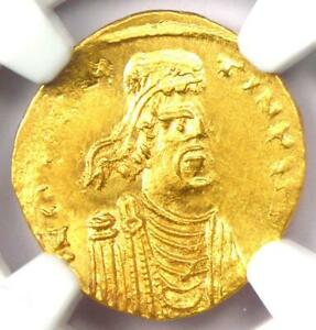 Byzantine Constans II AV Semissis Gold Coin 641-668 AD - Certified NGC MS (UNC)