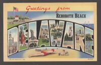 [68996] OLD LARGE LETTER POSTCARD GREETINGS from REHOBOTH, DELAWARE