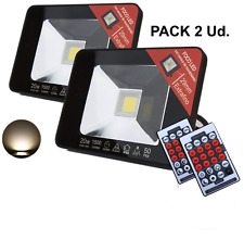Pack 2 focos LED 20W Sensor de Movimiento Configurable mediante mando IR