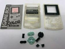 Rare Genuine Nintendo Gameboy Color Clear Transparent Shell Housing Complete