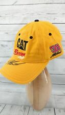 Cat Racing Yellow HAT Cap #31 NASCAR Jeff Burton Autographed Caterpillar
