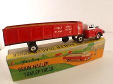Ichimura tin toy friction truck grain hauler trailer truck 24 cm en boite RARE
