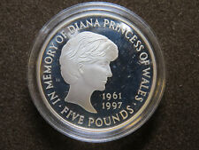 1999 5 Pounds Coin In Memory of Diana Princess of Wales Proof Coin Copper-Nickel
