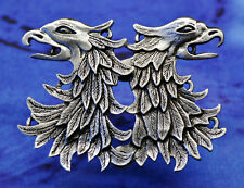 Cloak Clasp Griffin Eagle Head | Medieval | Renaissance | Handcrafted Pewter