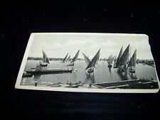 Rare Vintage Real Photo RPPC Postcard Sailboats Cairo River Nile Egypt Landrock