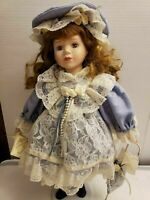 VINTAGE SOFT EXPRESSIONS COLLECTOR'S GENUINE FINE BISQUE PORCELAIN DOLL 17""