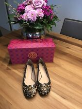 Tory Burch Original Fell-Leder Ballerina Leopard in Gr. 36, Neu!