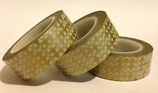 WASHI TAPE GOLD TRIANGLES 15MM WIDE X 10MTR ROLL SCRAPBOOKING CRAFT WRAP