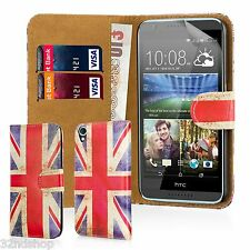 32nd Design Book PU Leather Wallet Case for HTC Desire 626 Screen Protector Union Jack