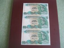 RM5 Ahmad Don sign 7th series - 3 running nos PZ 4264710 - 712 (AEF/EF)