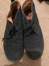 Mens Dr. Martens Navy Blue Mayport Canvas Boots Chukka Lace Up 9 RRP £65.99