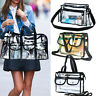 Clear Plastic Tote Bag Women Transparent PVC Handbag Zip Purse Stadium Security