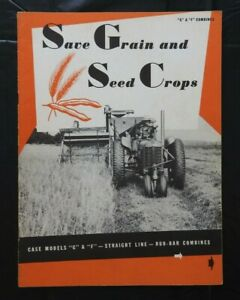 "1942 J I CASE ""MODELS G & F STRAIGHT-LINE RUB-BAR COMBINE"" CATALOG BROCHURE NICE"