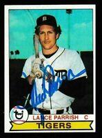 1979 Topps Lance Parrish Autographed Card - Detroit Tigers TTM - #469