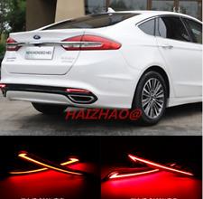 For Ford Fusion Mondeo 2013-2016 LED Rear Bumper Light Fog Lamp Brake Light