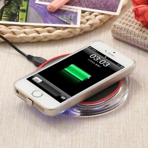 Qi Wireless Slim Clear Charger Charging Pad Station for Apple iPhone X 8 8 Plus