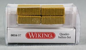 WIKING 001607/0016 07 (H0,1:87) Quaderballen-Set 4 Großpacken - NEUWARE!
