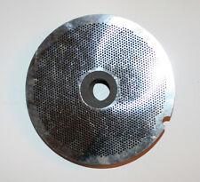 "SharpTech Southern Saw Meat Grinder Plate Die 8-1/2"" diameter 3/32"" holes & Hub"