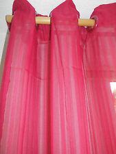 Vorhang Schal Gardine Voile  Ösenschal H x B 245 x 140 cm rot bordo gestreift