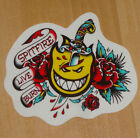 SPITFIRE WHEELS Adhesivo de skateboard - Tatuaje Flash - Llama Cabeza Logo -