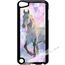 For Apple iPod Touch 5 Case Phone Cover Pretty Horse Pink Y01174