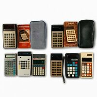 Calculator Lot Of 8 Texas Instruments VTG 1970s Radio Shack Sharp ICP Miida
