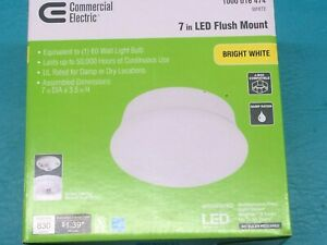 "1 Commercial Electric 4000K Spin Light 7"" LED Flush Mount Ceiling Light 60 Watts"