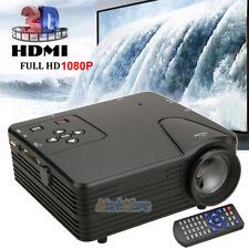 New 1080P Full HD LED Projector Home Cinema Theater Multimedia USB TV AV HDMI