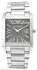 Emporio Armani AR2010 Classic Grey Dial Stainless Steel Men's Slim Watch $275