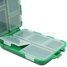 10 Compartments Fly Fishing Lure Spoon Hook Spinner Bait Storage Case Tackle Box