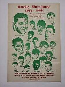 Rare 1970s Rocky Marciano Scholarship Promotional Poster